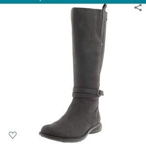 Merrell Tetra Black Smooth Leather Tall Boots Sz 9
